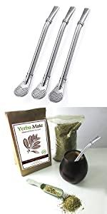 Silver Yerba Mate Bombilla
