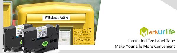 ptouch label white tape tze231-221