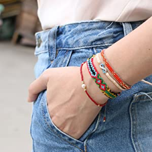 bohemian bracelet friendship bracelets handmade braided bracelet string bracelets strand women gifts