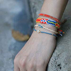 beach bracelet wrap bracelets string woven bracelet cord bracelet friendship bracelet women gifts