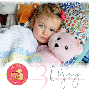 snuggle bear for your baby to keep forever with recorded heartbeat