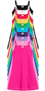 Girls Soft 100% Cotton Cami Dress
