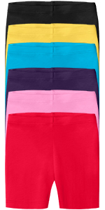 Girls Soft 100% Cotton Bike Shorts