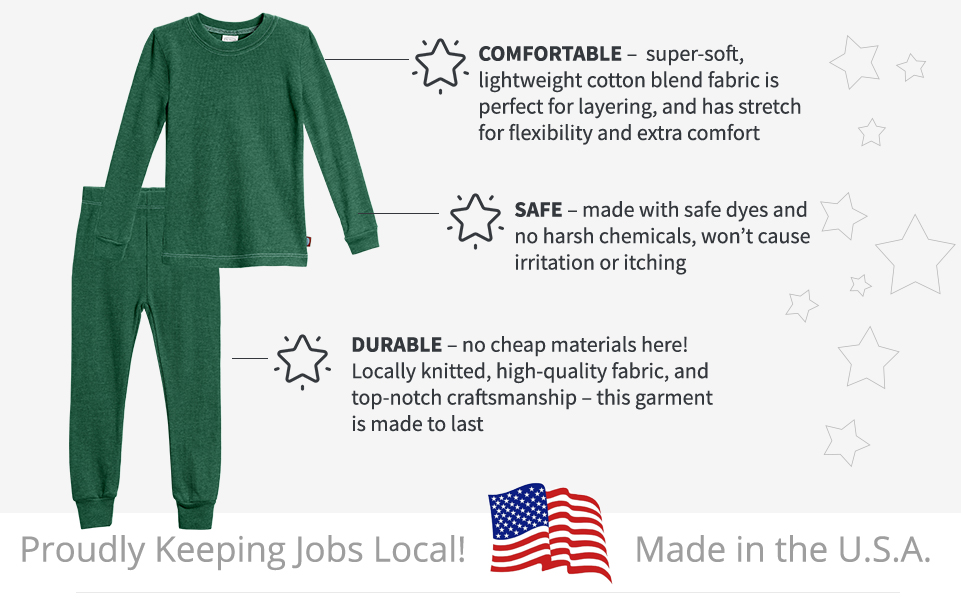 comfortable soft durable quality thermal