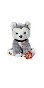 husky dog recordable stuffed animal