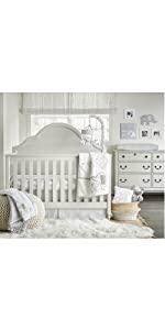 bed in a bag 4 piece set elephant nursery bedding grey gray white chevron
