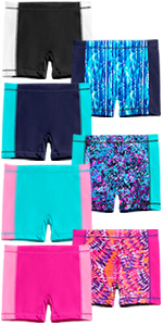 girls swim boy shorts side panel gift present birthday summer camp swimsuit sun protection suncover