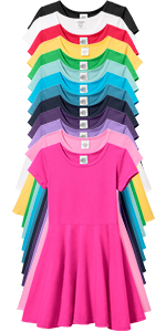 Girls Soft 100% Cotton Twirly Dress