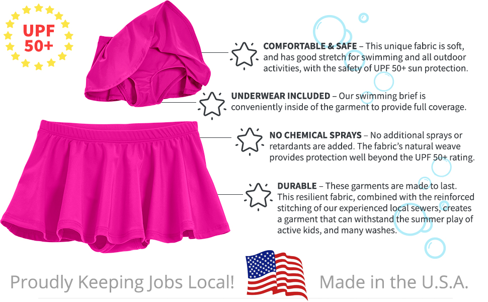stretch swim sun protection UPF 50+ quality stylish durable safe sensitive skin
