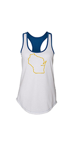 Womens Milwaukee Brewers Tank Top - Wisconsin Home Apparel
