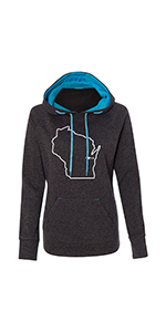 Womens Wisconsin Home Hooded Sweatshirt