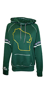 Womens Packers Striped Wisconsin Home Hoodie