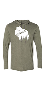 Up North Wisconsin Hoodie Light Weight