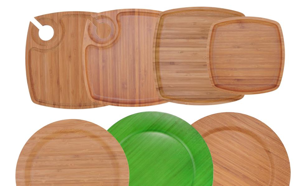 bamboomn bamboo ecoware eco ware plate dinnerware reusable variety fun stylish decorative charger