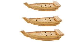 bamboo wood sushi boat board tray platter catering events catered party supply wedding
