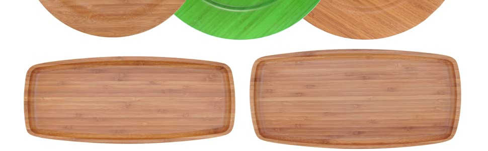 Bamboo Plate ecoware reusable dinnerware plate catering appetizer wood