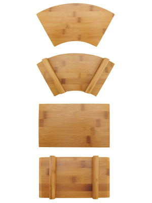 sushi bamboo wood board plates platter tray reusable business catered events party