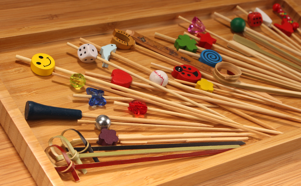 BambooMN all sorts decorative food picks skewers varieties