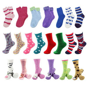 sock of the month monthly subscription fuzzy cozy for women cute animal double layer furry fluffy