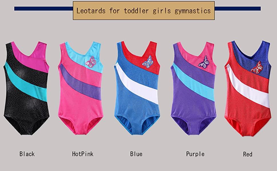 gymnastics leotards for girls black blue purple size 4 5 6 7 8 9 10 12 14 4- 5-6 7-8 8-10 10-12