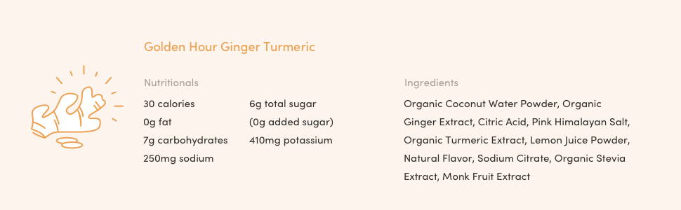 Golden Hour Ginger Turmeric Nutritional Facts