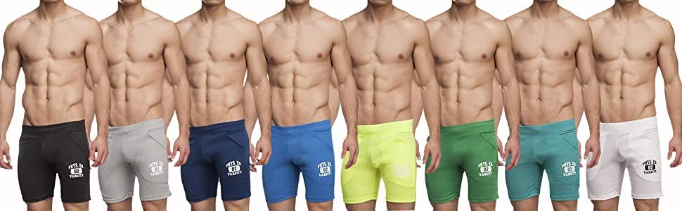 mens workout training shorts