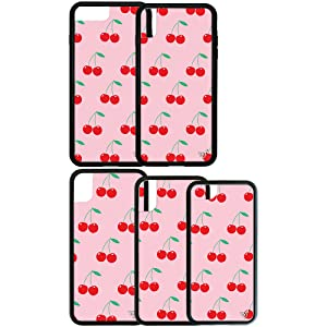 pink cherries print wildflower iphone cases 6 7 8 6+ 7+ 8+ plus x xs max xr instagram influencer