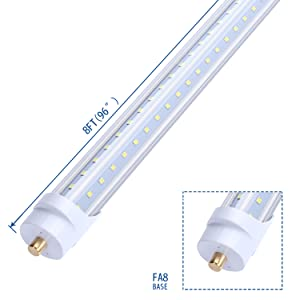 V Shaped Double Row  8ft led tube  light