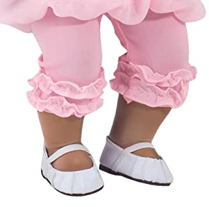 Baby Doll Shoes In White Fit For Bitty Baby American Girl Dolls Ballerina Doll Flats In White