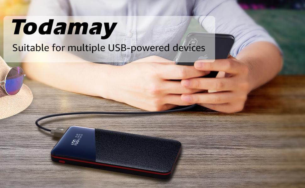 Todamay 25000mAh LCD Power Bank Portable Pocket