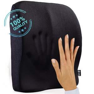 memory foam cushion pillow back lumbar high quality black large full