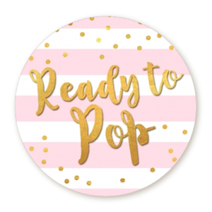 Ready To Pop Gold Theme Stickers