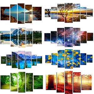 Large canvas wall art big huge wall art artwork painting original nature beach abstract glow dark