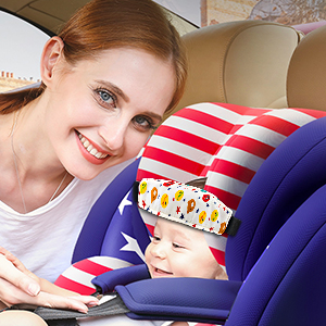 troller Adjustable Sleep Head Holder Belt Offers Safety and Protection for Kid headrest for car seat