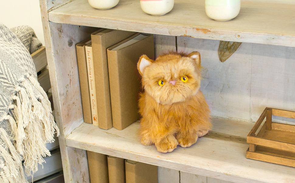 DEMDACO Nat and Jules Small Persian Cat Orange Children's Plush Stuffed Animal