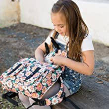Baby Tula Girl Backpack, Flourish, Floral Print