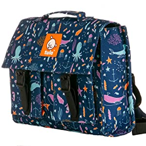 Baby Tula Unisex Kids Backpack, Underwater, Blue, Sea Creatures, Ocean Creatures