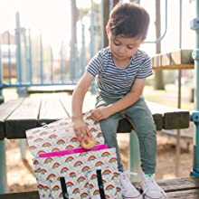 Baby Tula Spacious, Large Kids Backpack, Rainbow Hearts