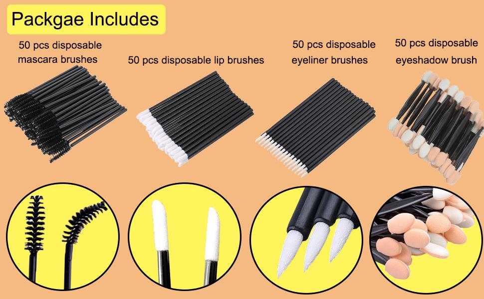 disposable makeup applicators