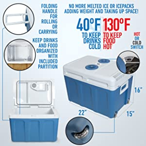 Hot cold electric warmer cooler