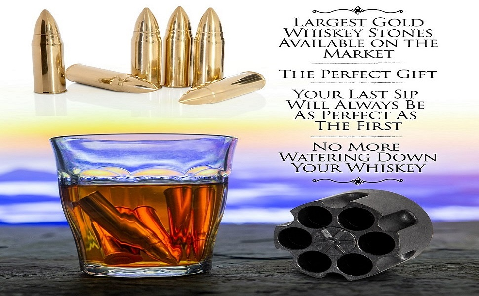 Bullet whiskey ice cubes