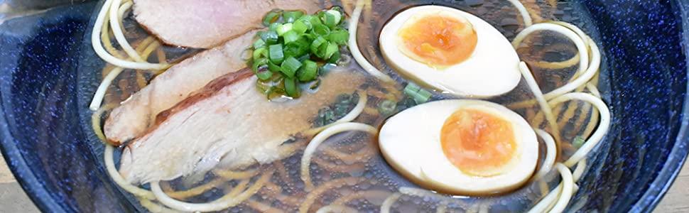 Large Japanese Ramen Noodle Soup Bowl Ceramic Dishware Set
