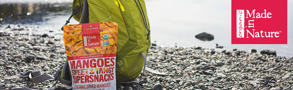 Made in Nature Mangoes Sweet & Tangy Supersnack - Organic Dried Mangoes