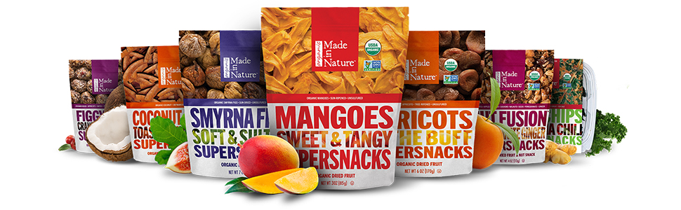 Made in Nature Mangoes Sweet & Tangy Supersnack - Organic Dried Fruit