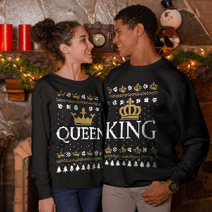King queen ugly sweater