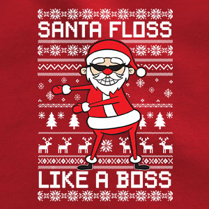Santa floss like a boss fabric
