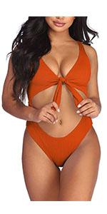 women bikini Ribbed