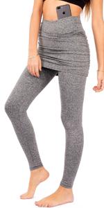 skort with leggings legging skirt for women running skirted golf tights attached active skirts