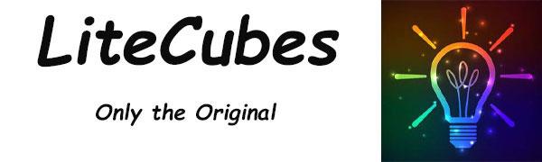LiteCubes, LED ice cubes, light up ice cubes flashing ice cube, white ice cubes