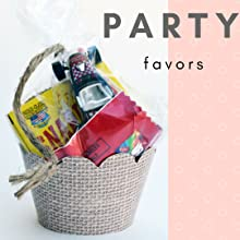 Burlap party favor - bag filled with toys and treats in a burlap cupcake wrapper for cowboy birthday